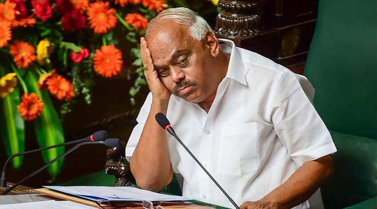 Ahead of trust vote, Karnataka Speaker disqualifies 14 rebels