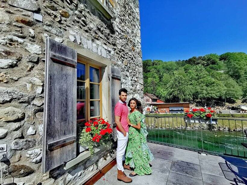 erica fernandes, parth samthaan switzerland photos