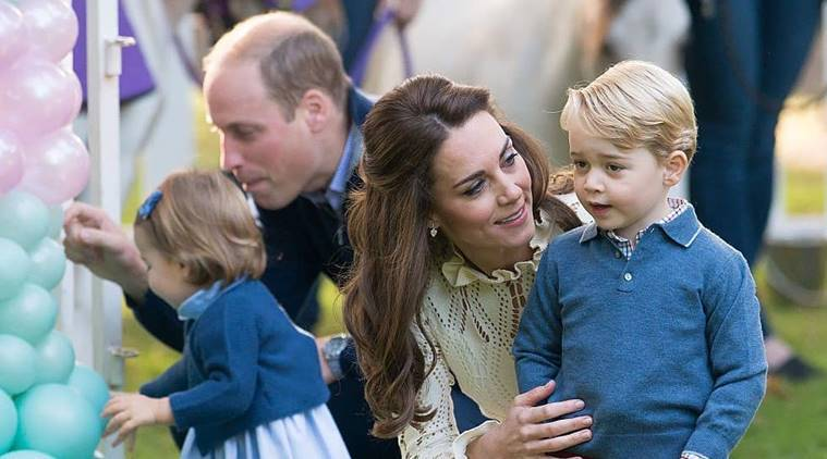 Prince George and Princess Charlotte with Prince William and Kate Middleton.