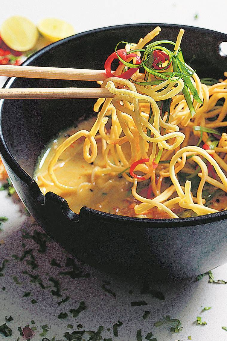 ritu dalmia, diva spiced, diva spiced delhi, diva spiced restaurant, diva spiced gk, asian restaurant, meherchand market, food review, indian express news