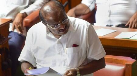 Watch: Former Karnataka CM Kumaraswamy reads out poem, which led to arrest of poet Bisarali yesterday