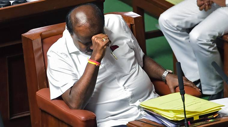 Karnataka crisis: No trust vote due to ruckus, BJP on overnight protest