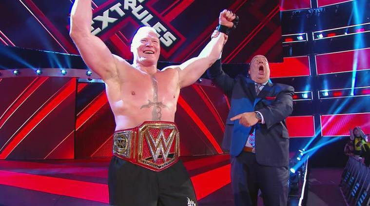 wwe extreme rules results, wwe extreme rules, wwe extreme rules 2019 results, extreme rules results, brock lesnar, the undertaker, roman reigns, universal champion, wwe champion, seth rollins, rollins, baron corbin, wwe news