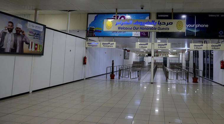 Chaos and fear in Libya's Mitiga airport after missiles halt air traffic