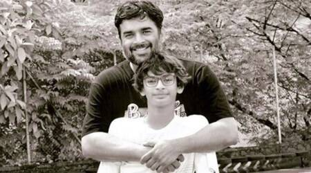 madhavan with his son vedaant