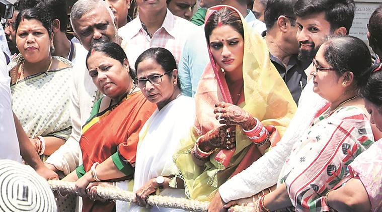 Mamata takes part in Rath Yatra with Nusrat, calls for communal harmony