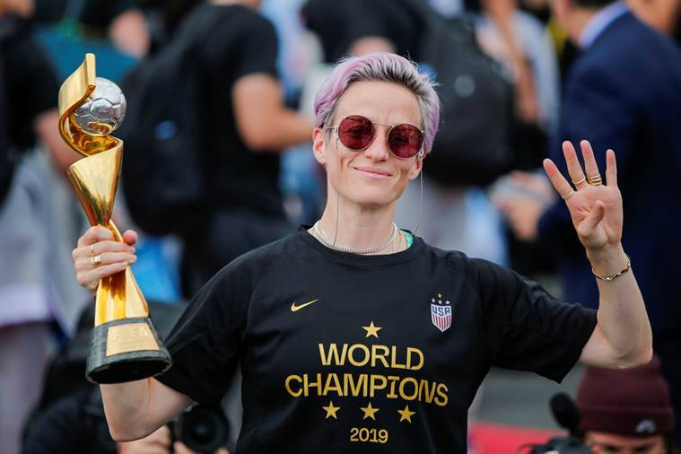 Megan Rapinoe, US soccer president, ban on protests during the national anthem, Cindy Parlow Cone, US soccer anthem rule