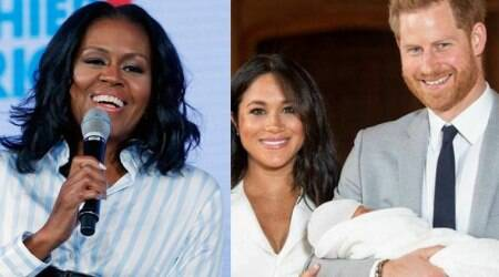 michelle obama, meghan markle and prince harry, archie