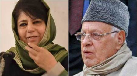 Mehbooba Mufti, Farooq Abdullah, article 35 A, Jammu and Kashmir, j&k status, amit shah, latest news, indian express