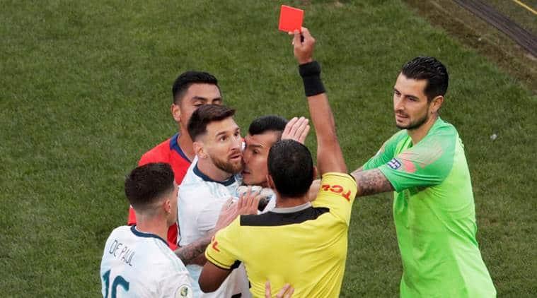Messi red card. Messi in Copa America