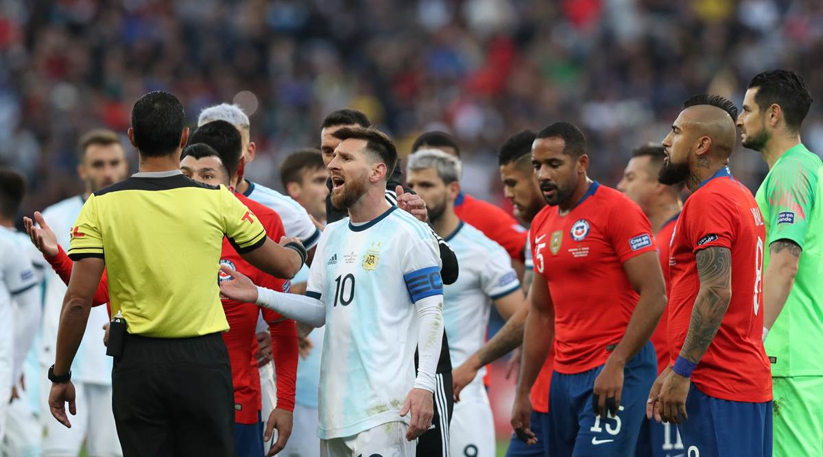 Lionel Messi Boycotts Medal Ceremony Slams Referees Corruption After Copa America Red Card Sports News The Indian Express