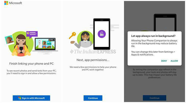 microsoft your phone app  how to mirror android phone
