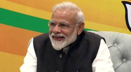 narendra modi, pm modi, pm modi gujarat bhavan, gujarat bhavan delhi, nitin patel, gujarat bhavan chanakyapuri, gujarat news, indian express news