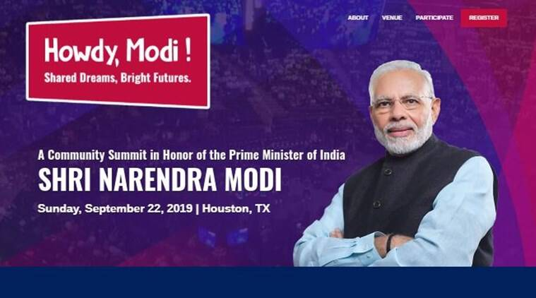 howdy modi, indian community in texas, houston, pm modi, united states visit, pm modi in united states, united nations, lok sabha elections, india news, indian express