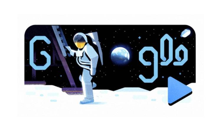 Apollo 11 Space Mission:: Michael Collins recounts moon landing mission in Google doodle video