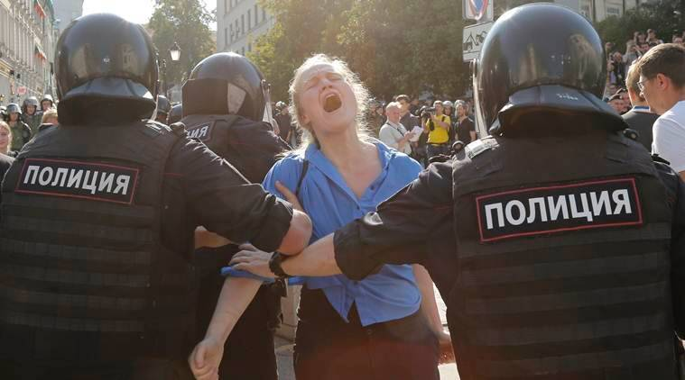Moscow protests, moscow police, protests in moscow, world news,