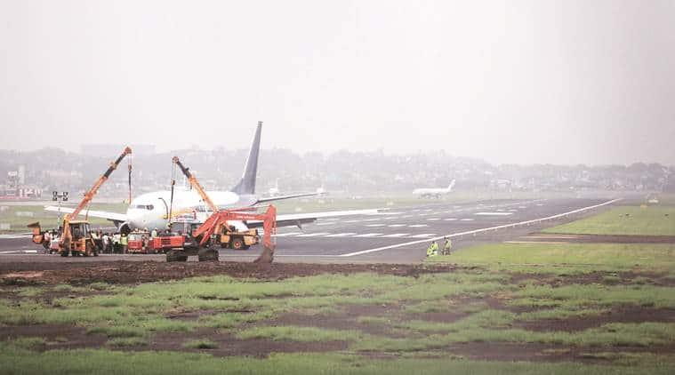 Mumbai rains, maharashtra rains, mumbai monsoons, imd, mumbai airport shut, mumbai airport open, spicejet plane stuck at mumbai airport, mumbai spicejet flights