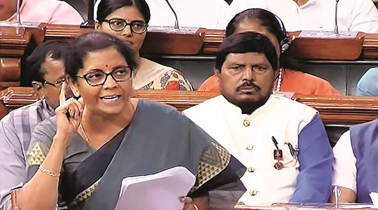 nirmala sitharaman, nirmala sitharaman budget, union budget 2019, union budget sitharaman, gdp figure budget, opposition on union budget