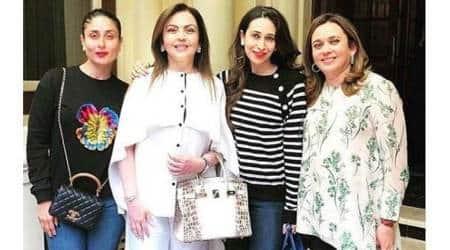Nita Ambani, Nita Ambani white Birkin bag, Nita Ambani in London, Hermes handbag,Indian Express