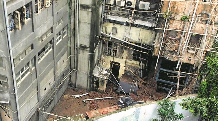 building collapse in Mumbai, commercial building collapse, Nusser House, Nusser House collapses, Mumbai news, Indian Express news