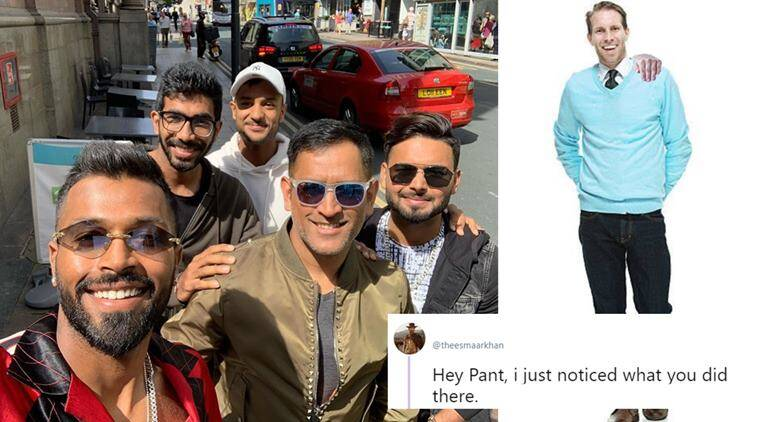 rishabh pant, rishabh pant shoulder hand, indian players free day, hardik pandya, hardik pandya boys day out, viral photo, sports news, cricket news, world cup news, indian express