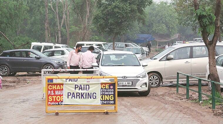 chandigarh news, chandigarh parking, chandigarh parking policy,chandigarh draft parking policy, parking woes, indian express