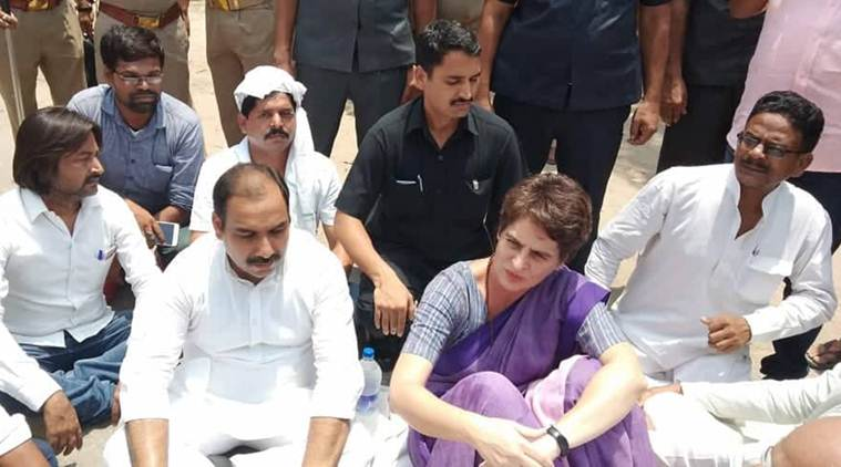 Priyanka Gandhi, Priyanka Gandhi arrested, Sonbhadra killing, UP Sonabhadra murders, Priyanka Gandhi Vadra, up congress, congress up, Indian Express