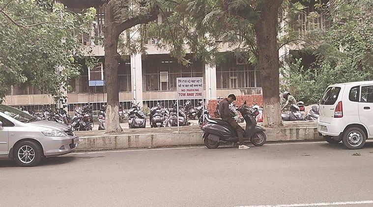 Vehicles increase, parking space shrinks on Panjab University campus