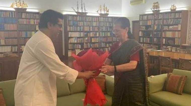 Raj Thackeray meets sonia gandhi, Raj Thackeray sonia gandhi meeting, Raj Thackeray, sonia gandhi, shiv sena, congress ncp alliance, mns