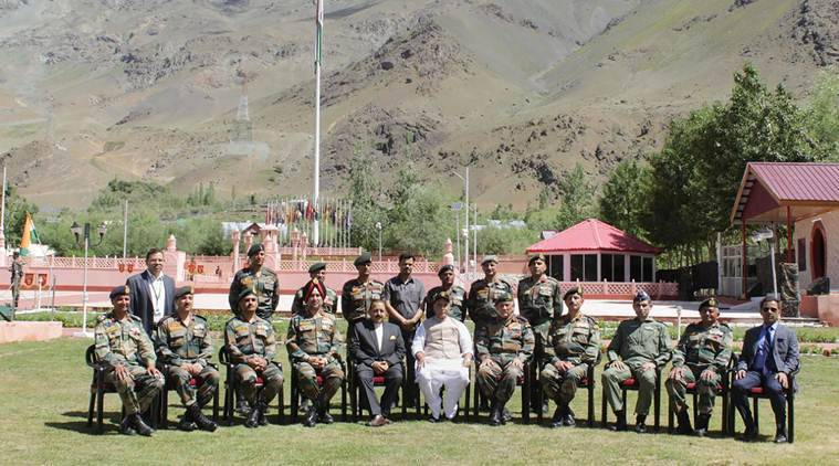 Rajnath Singh, Rajnath Singh on Kargil war, Kargil war memorial, Jammu and Kashmir Kargil war memorial, 20 years of Kargil, Kargil war, Kargil victory, Indian Express news, latest mews