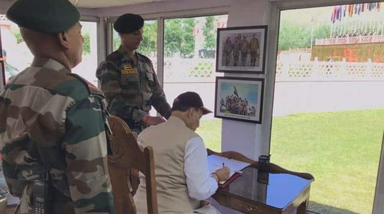 Rajnath Singh visits J&K, pays tributes to Kargil soldiers at war memorial