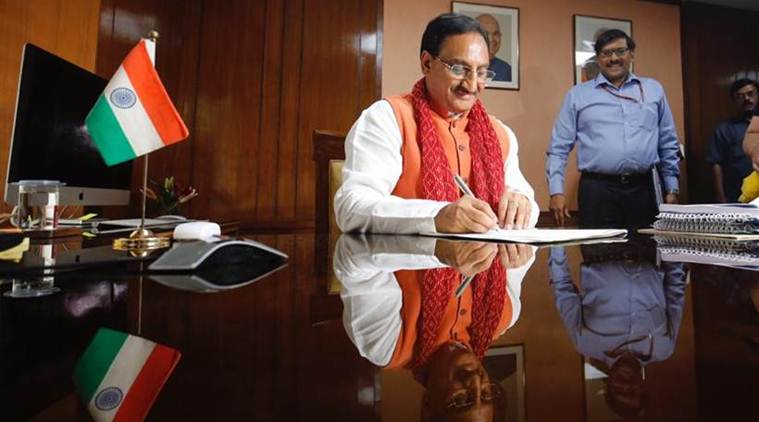 HRD minister, Ramesh Pokhriyal 'Nishank', Ramesh Pokhriyal, New National Education Policy, NEP, Union HRD minister, Education News, Indian Express, Indian Express News