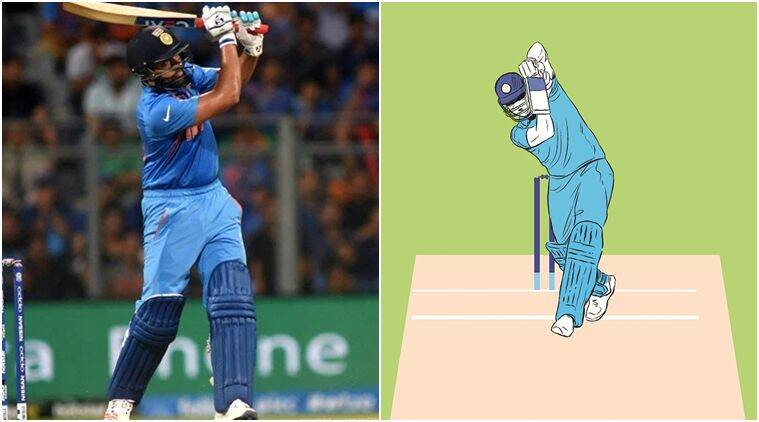 A thing of beauty: Rohit Sharma's lofted straight drive — Gentle, graceful, delightful