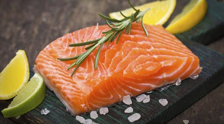 salmon, healthy food salmon, salmon good for muscle, indian express