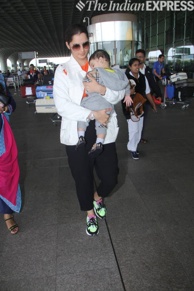 sania mirza with son