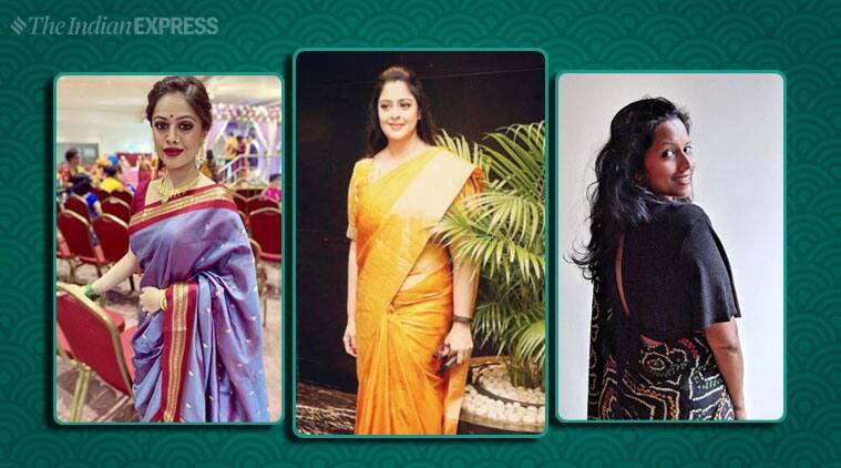 #SareeTwitter, #SareeTwitter trend, women saree, woman saree swag, twitter trends, saree, sari, twitter reactions, bollywood, actors saree pics, trending, indian express, indian express news
