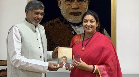 Kailash Satyarthi, Smriti Irani, Women and Child Development minister, Satyarthi meets Irani, india news