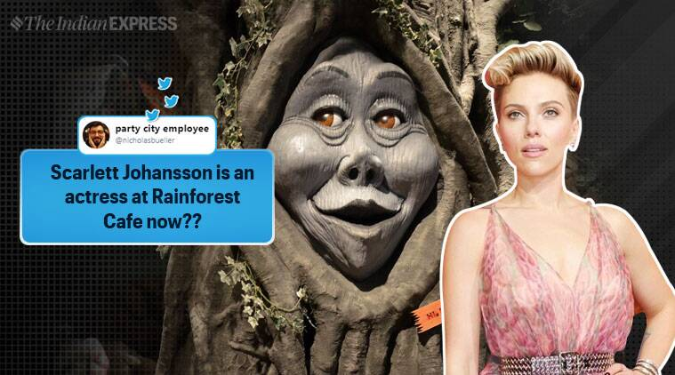 Scarlett Johansson, Scarlett Johansson as if interview, Scarlett Johansson, Scarlett Johansson tree memes, Scarlett Johansson news, entertainment news, indian express