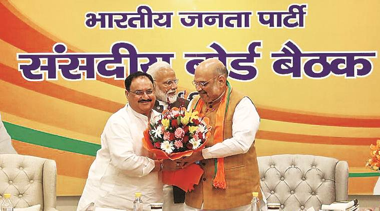 amit shah, jp nadda, jagat prakash nadda, bjp working president, bjp president jp nadda, bjp national president, bharatiya janata party, home minister amit shah, amit shah home minister, india news, Indian Express