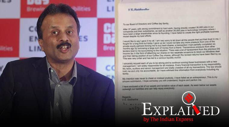 VG Siddhartha's letter to Cafe Coffee Day board a suicide note