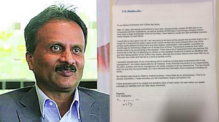 Cafe Coffee Day (CCD) Owner VG Siddhartha Missing News ...