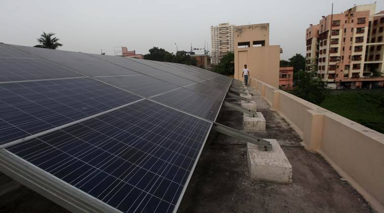 solar power in India, NDA government Make in India solar power, solar cells import increase, expenditure on solar cells import, business news, indian express
