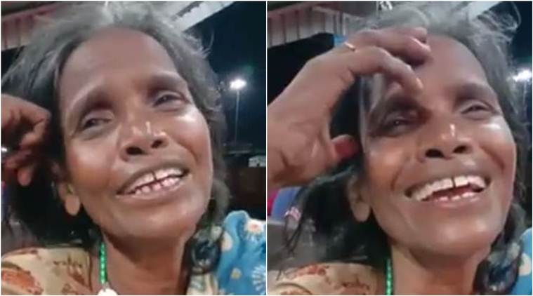 Woman singing, Woman singing at railway station,Woman singing at railway station in West bengal, Bollywood, Shor, Lata Mangeshkar, Trending, Indian Express news