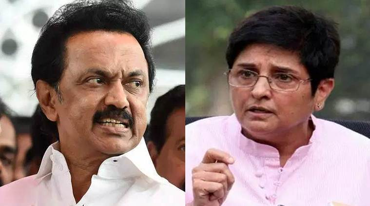 Kiran Bedi blames Tamil Nadu's 'poor governance, corrupt politics' for water scarcity; MK Stalin demands apology