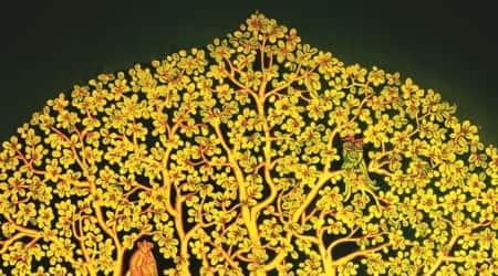 delhi, exhibition, artists, painting, Uma Nair exhibition, India International Center, trees, 'Vriksha' Painting exhibition, lifestyle news, Indian Express news