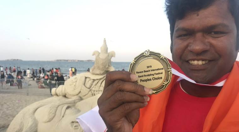 Indian sand artist wins People's Choice Award in US