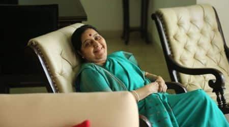 sushma swaraj, sushma swaraj delhi house, sushma swaraj moves out of delhi house, former external affairs minister sushma swaraj, indian express news