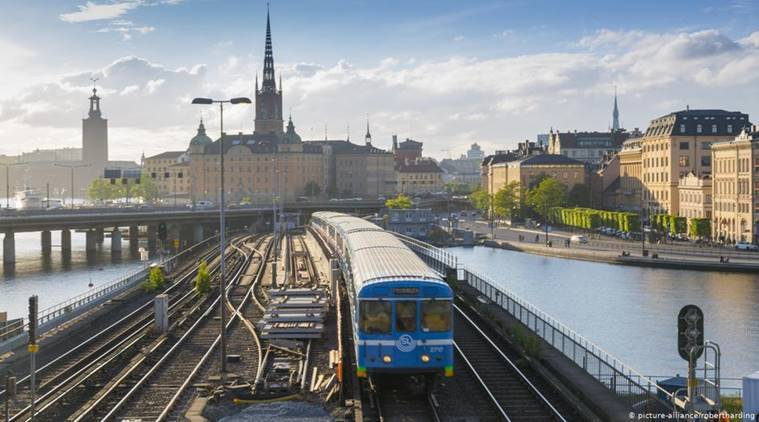 People in Sweden switch to trains to deter global warming
