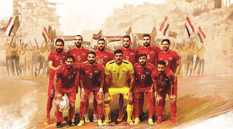 Syria, Syrian football, Syria football, Syrian football team, Fajer Ebrahim, Syrian civil war, Syria FIFA, FIFA Syria, 2018 world cup Syria, Indian Express