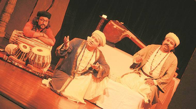 Play in Connaught Place, dance and music  drama, play on Tansen in Connaught, Tansen court singer, play on life of Tansen,  Sudheer Rikhari, Mohammad Faheem, Indian Express